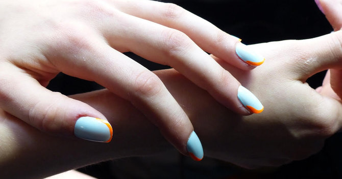 The New Futuristic French Mani That Will SKYROCKET