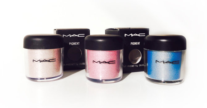 WIN! 3 New MAC Pigment Colour Powder Eyeshadows