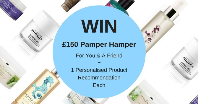 WIN A Pamper Hamper worth £150 for You and a Friend! (Plus your beauty match!)