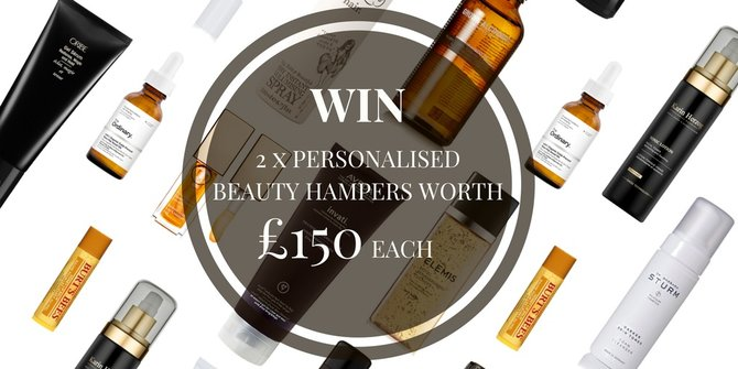 WIN Personalised Beauty Hampers Worth £150 Each For You And A Friend