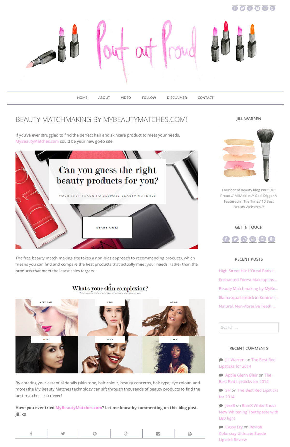 Beauty Matchmaking by MyBeautyMatches.com Clipping